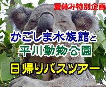 かごしま水族館と平川動物公園★日帰りバスツアー
