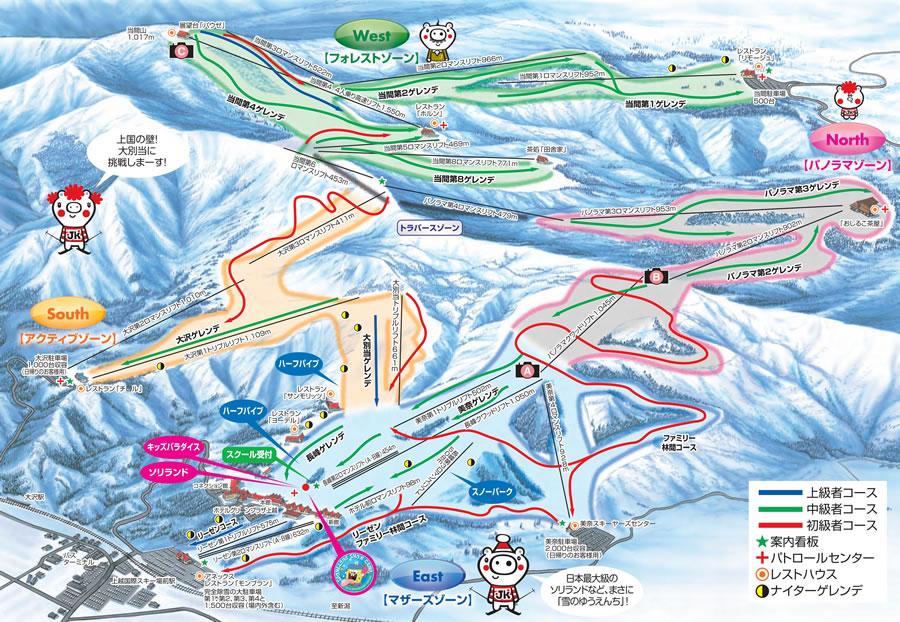 上越国際スキー場ゲレンデマップ