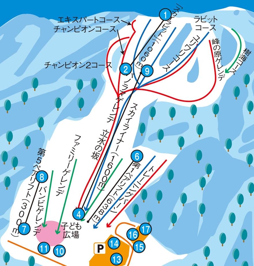野麦峠スキー場ゲレンデマップ