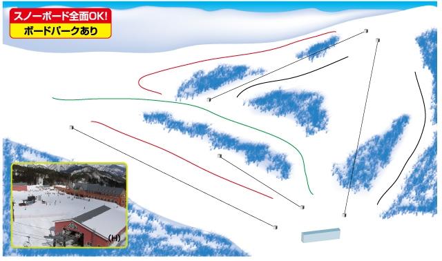 ノルン水上スキー場(関東発着)ゲレンデマップ