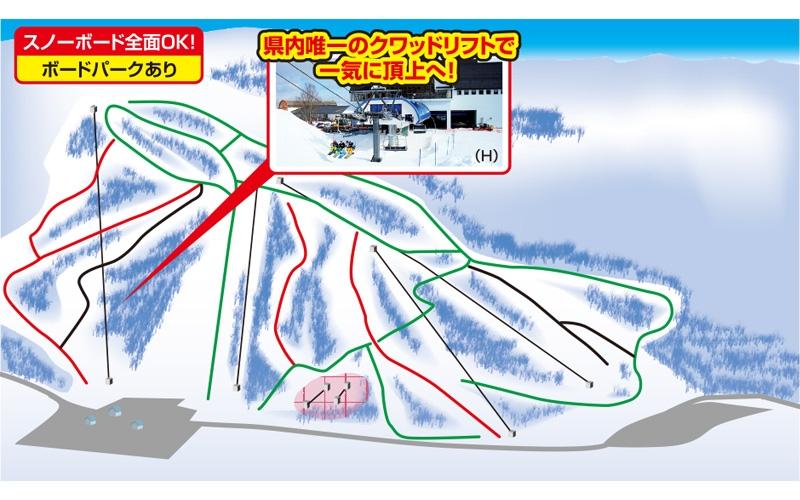 グランディ羽鳥湖スキーリゾート(関東発着)ゲレンデマップ
