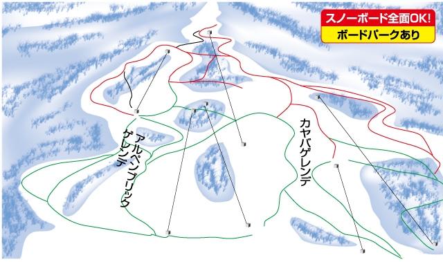 妙高池の平温泉スキー場(関東発着)ゲレンデマップ