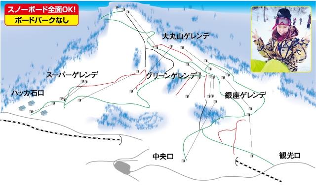 石打丸山スキー場(関東発着)ゲレンデマップ
