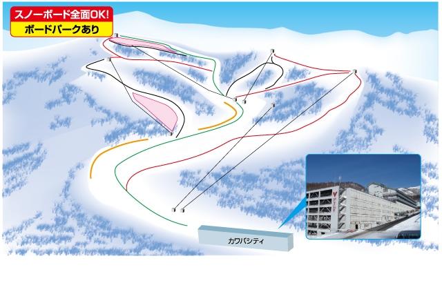 川場スキー場(関東発着)ゲレンデマップ