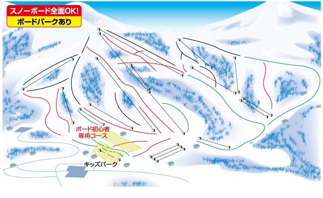 斑尾高原スキー場(関東発着)ゲレンデマップ
