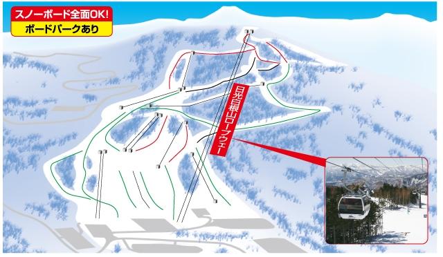 丸沼高原スキー場(関東発着)ゲレンデマップ