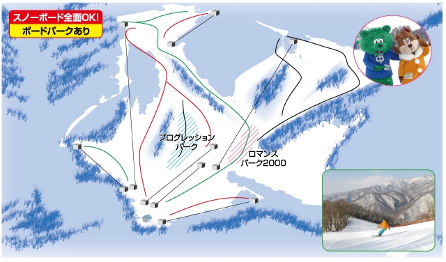 スノーパーク尾瀬戸倉(関東発着)ゲレンデマップ