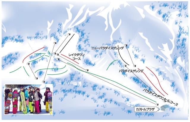 白馬さのさかスキー場(関東発着) ゲレンデマップ