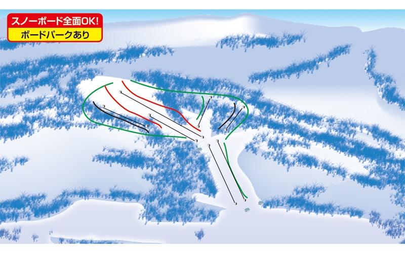 たんばらスキーパーク(関東発着)ゲレンデマップ