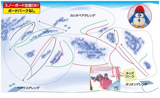 戸狩温泉スキー場(関東発着)ゲレンデマップ