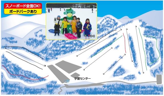 湯の丸スキー場(関東発着)ゲレンデマップ