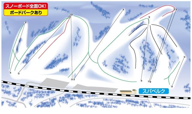 湯沢中里スノーリゾートゲレンデマップ