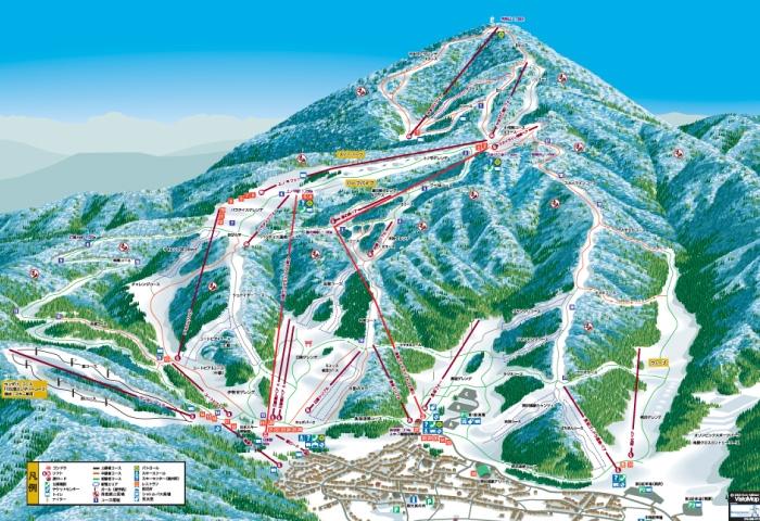 野沢温泉スキー場ゲレンデマップ