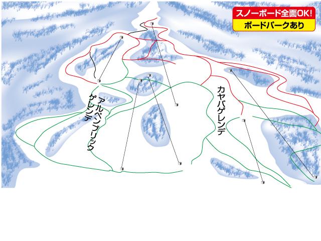 マイカー日帰り/妙高池の平温泉スキー場 リフト券付