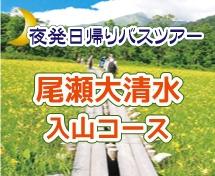夜発バスで行く日帰り尾瀬大清水コース