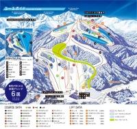 白馬岩岳スノーフィールドゲレンデマップ