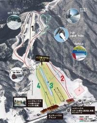 大佐スキー場ゲレンデマップ