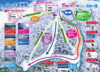五ケ瀬ハイランドスキー場ゲレンデマップ