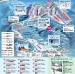 スキージャム勝山ゲレンデマップ