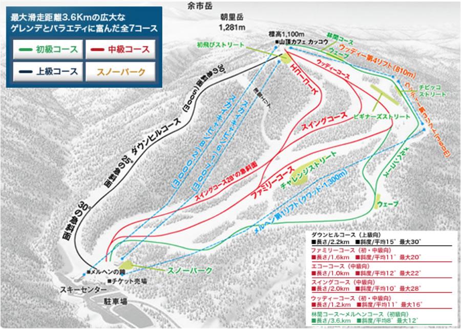札幌国際スキー場ゲレンデマップ