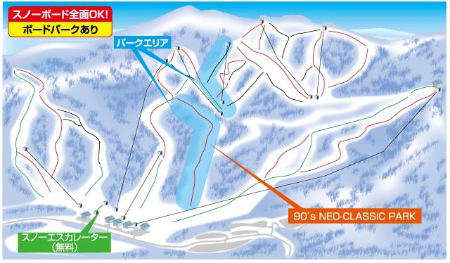 星野リゾート アルツ磐梯ゲレンデマップ