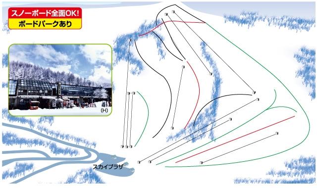 車山高原SKYPARKスキー場ゲレンデマップ