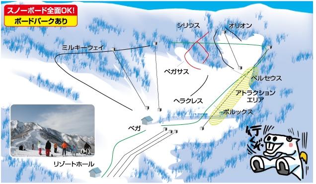 神立高原スキー場ゲレンデマップ