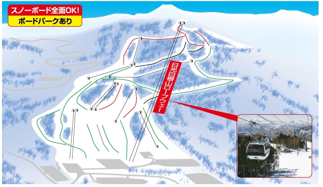 丸沼高原スキー場ゲレンデマップ